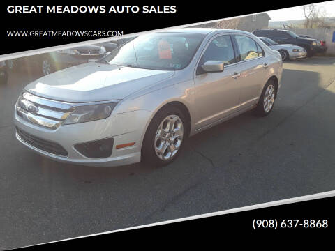 2010 Ford Fusion for sale at GREAT MEADOWS AUTO SALES in Great Meadows NJ