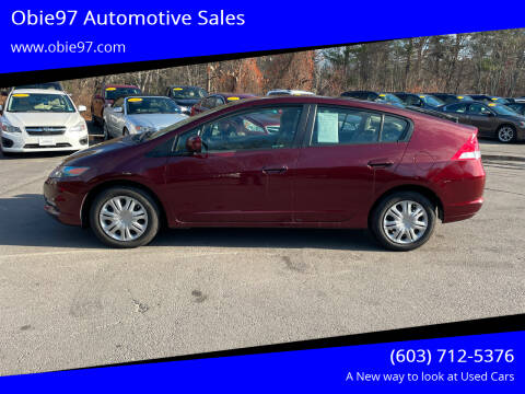 2011 Honda Insight for sale at Obie97 Automotive Sales in Londonderry NH