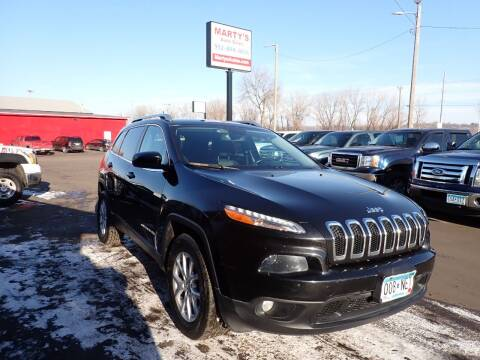 2014 Jeep Cherokee for sale at Marty's Auto Sales in Savage MN