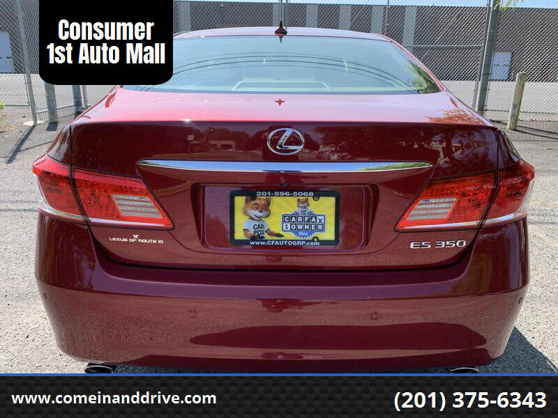 2012 Lexus ES 350 for sale at Consumer 1st Auto Mall in Hasbrouck Heights NJ
