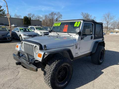 2003 Jeep Wrangler for sale at River Motors in Portage WI
