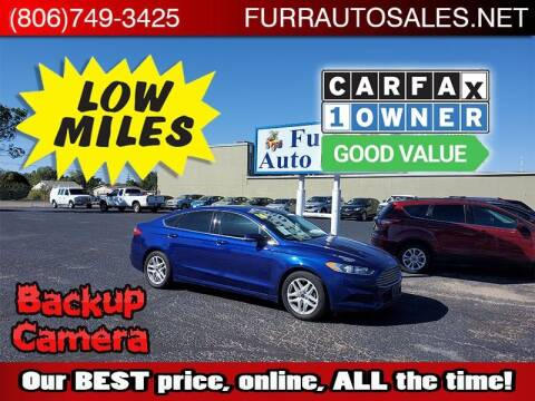 2016 Ford Fusion for sale at FURR AUTO SALES in Lubbock TX