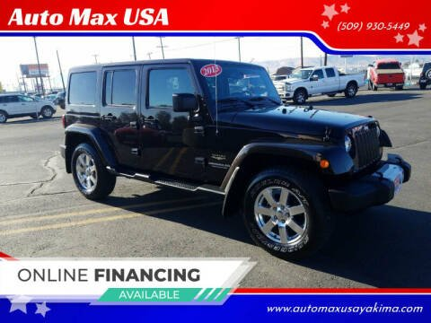 2013 Jeep Wrangler Unlimited for sale at Auto Max USA in Yakima WA