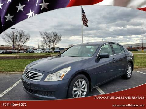 2009 Infiniti G37 Sedan for sale at Auto Outlet Sales and Rentals in Norfolk VA