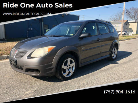 2005 Pontiac Vibe for sale at Ride One Auto Sales in Norfolk VA