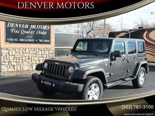 2017 Jeep Wrangler Unlimited for sale at DENVER MOTORS in Englewood CO