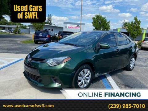 2016 Toyota Corolla for sale at Used Cars of SWFL in Fort Myers FL