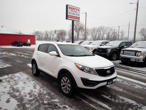 2014 Kia Sportage for sale at Marty's Auto Sales in Savage MN
