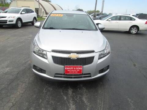 2012 Chevrolet Cruze for sale at Knauff & Sons Motor Sales in New Vienna OH