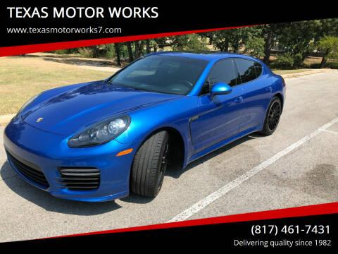 2015 Porsche Panamera for sale at TEXAS MOTOR WORKS in Arlington TX