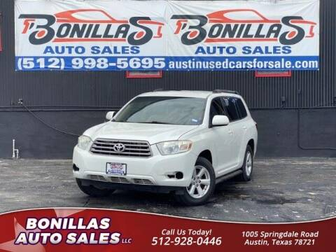 2008 Toyota Highlander for sale at Bonillas Auto Sales in Austin TX