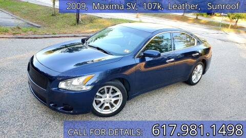 2009 Nissan Maxima for sale at Wheeler Dealer Inc. in Acton MA