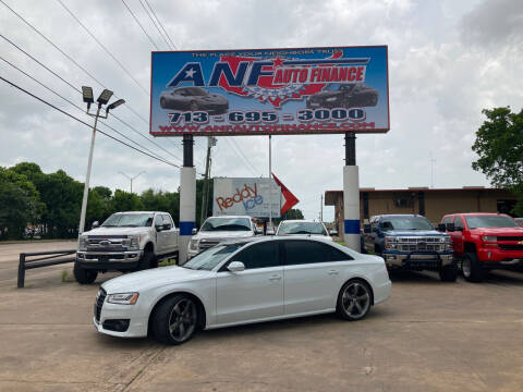 2018 Audi A8 L for sale at ANF AUTO FINANCE in Houston TX