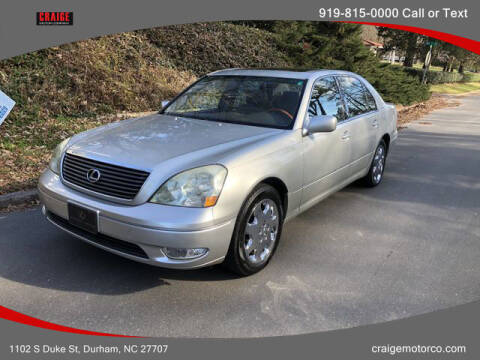 2001 Lexus LS 430 for sale at CRAIGE MOTOR CO in Durham NC