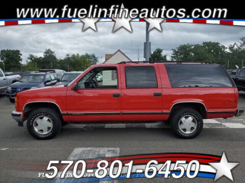 1999 GMC Suburban for sale at FUELIN FINE AUTO SALES INC in Saylorsburg PA
