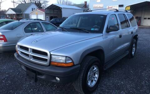 2003 Dodge Durango for sale at DOUG'S USED CARS in East Freedom PA