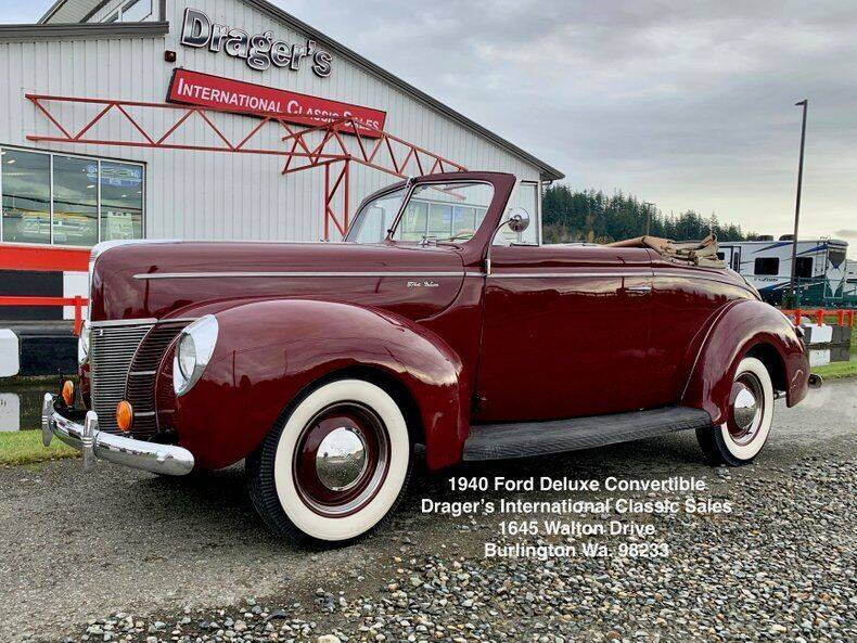 1940 Ford Deluxe for sale at Drager's International Classic Sales in Burlington WA