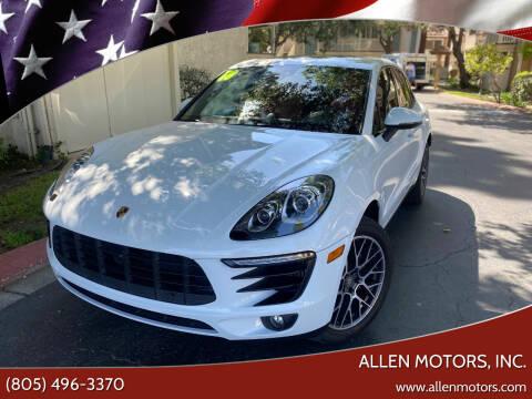 2018 Porsche Macan for sale at Allen Motors, Inc. in Thousand Oaks CA