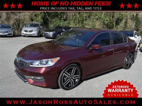 2016 Honda Accord for sale at Jason Ross Auto Sales in Burlington NC