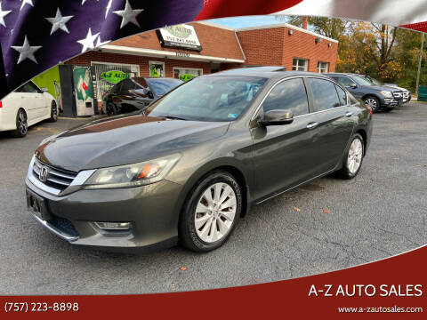 2013 Honda Accord for sale at A-Z Auto Sales in Newport News VA