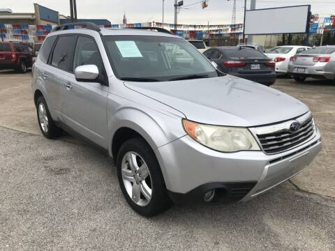 2009 Subaru Forester for sale at AMERICAN AUTO COMPANY in Beaumont TX