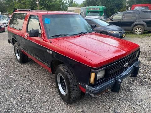 1988 Chevrolet S-10 Blazer for sale at C.J. AUTO SALES llc. in San Antonio TX