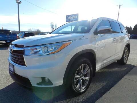 2014 Toyota Highlander for sale at Leitheiser Car Company in West Bend WI
