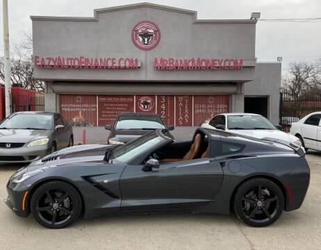 2014 Chevrolet Corvette for sale at Eazy Auto Finance in Dallas TX