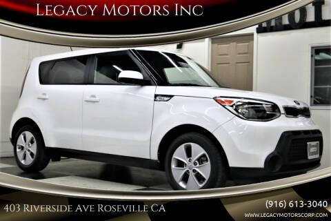 2016 Kia Soul for sale at Legacy Motors Inc in Roseville CA