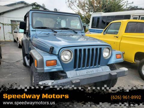 1998 Jeep Wrangler for sale at Speedway Motors in Glendora CA