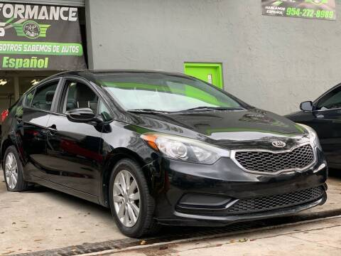 2016 Kia Forte for sale at HIGH PERFORMANCE MOTORS in Hollywood FL