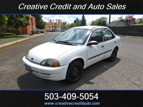 2001 Chevrolet Metro for sale at Creative Credit & Auto Sales in Salem OR