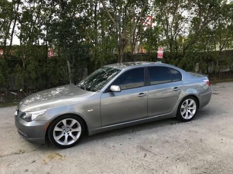 2008 BMW 5 Series for sale at Zak Motor Group in Deerfield Beach FL