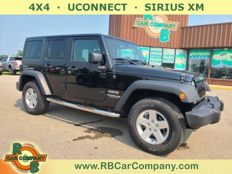 2017 Jeep Wrangler Unlimited for sale at R & B Car Co in Warsaw IN