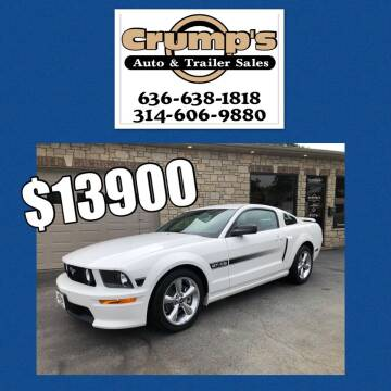 2007 Ford Mustang for sale at CRUMP'S AUTO & TRAILER SALES in Crystal City MO