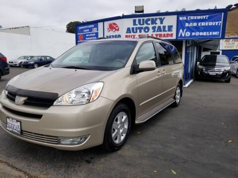 2004 Toyota Sienna for sale at Lucky Auto Sale in Hayward CA