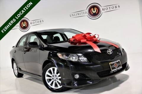 2010 Toyota Corolla for sale at Unlimited Motors in Fishers IN