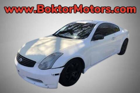 2005 Infiniti G35 for sale at Boktor Motors in North Hollywood CA