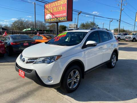 2015 Toyota RAV4 for sale at Alejandro Cars & Trucks in Houston TX