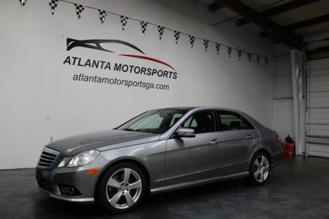 2010 Mercedes-Benz E-Class for sale at Atlanta Motorsports in Roswell GA