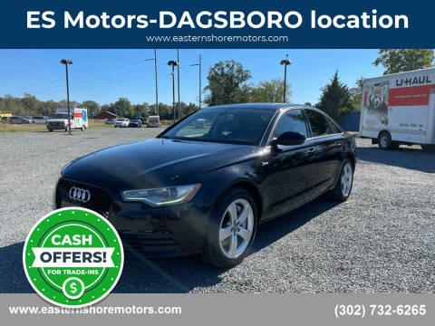2012 Audi A6 for sale at ES Motors-DAGSBORO location in Dagsboro DE