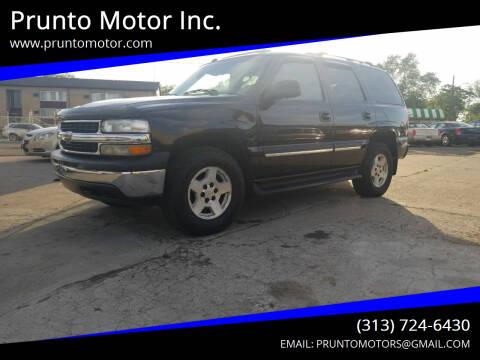 2005 Chevrolet Tahoe for sale at Prunto Motor Inc. in Dearborn MI