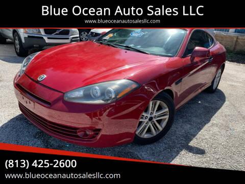 2007 Hyundai Tiburon for sale at Blue Ocean Auto Sales LLC in Tampa FL