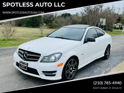 2014 Mercedes-Benz C-Class for sale at SPOTLESS AUTO LLC in San Antonio TX