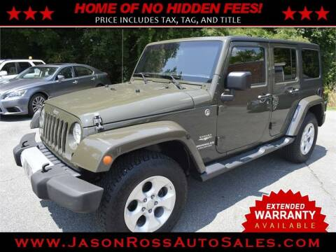 2015 Jeep Wrangler Unlimited for sale at Jason Ross Auto Sales in Burlington NC