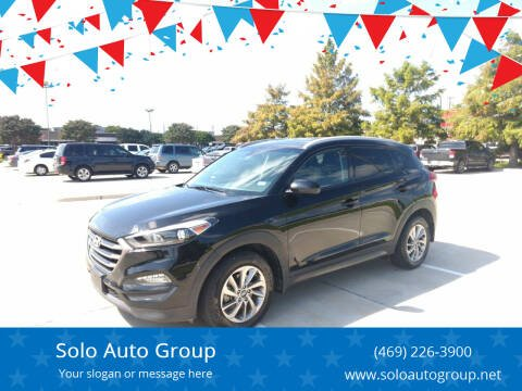 2016 Hyundai Tucson for sale at Solo Auto Group in Mckinney TX