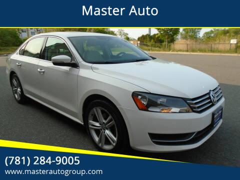 2014 Volkswagen Passat for sale at Master Auto in Revere MA