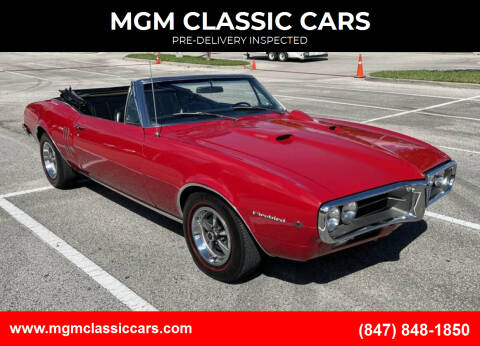 1967 Pontiac Firebird for sale at MGM CLASSIC CARS-New Arrivals in Addison IL