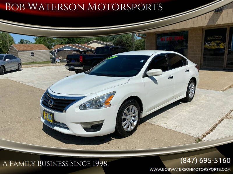 2014 Nissan Altima for sale at Bob Waterson Motorsports in South Elgin IL