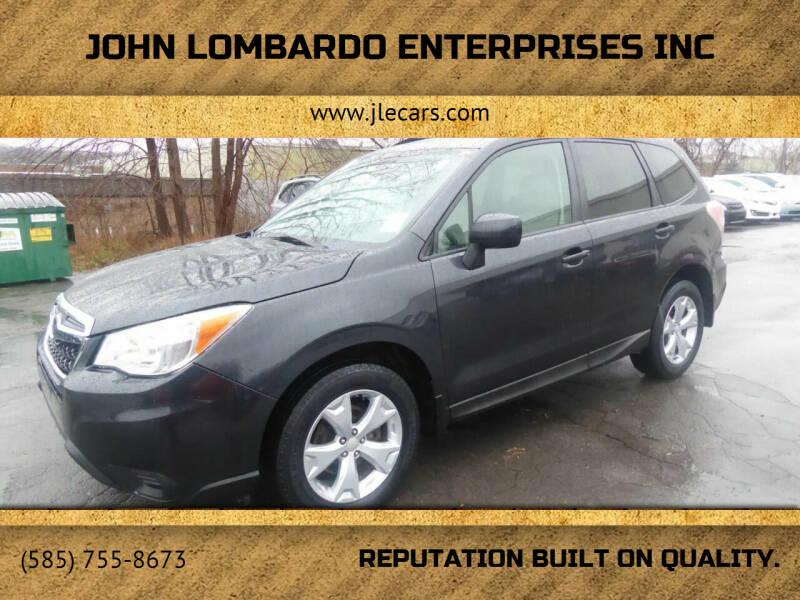 2015 Subaru Forester for sale at John Lombardo Enterprises Inc in Rochester NY